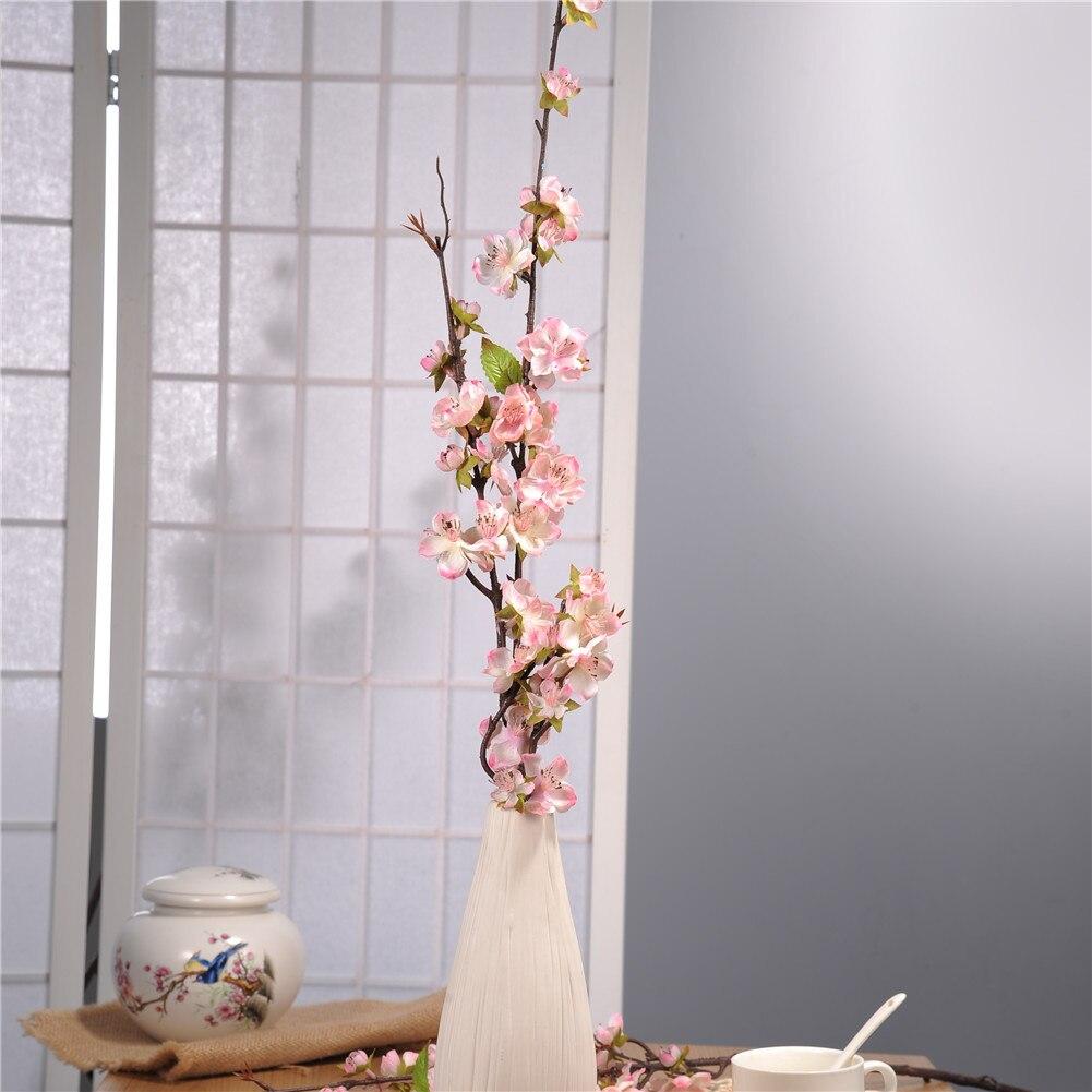 2pcs Cherry Blossom Flowers Bridal Decor Flowers Bouquet Silk Artificial Flowers Decoration Wedding Decorative Accessaries