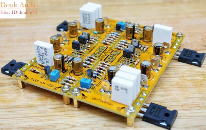 Assembled PASS AM single-ended Class A power amplifier board 10W balance input gzlozone assembled x29f single ended dc class a preamplifier board alps potentiometer