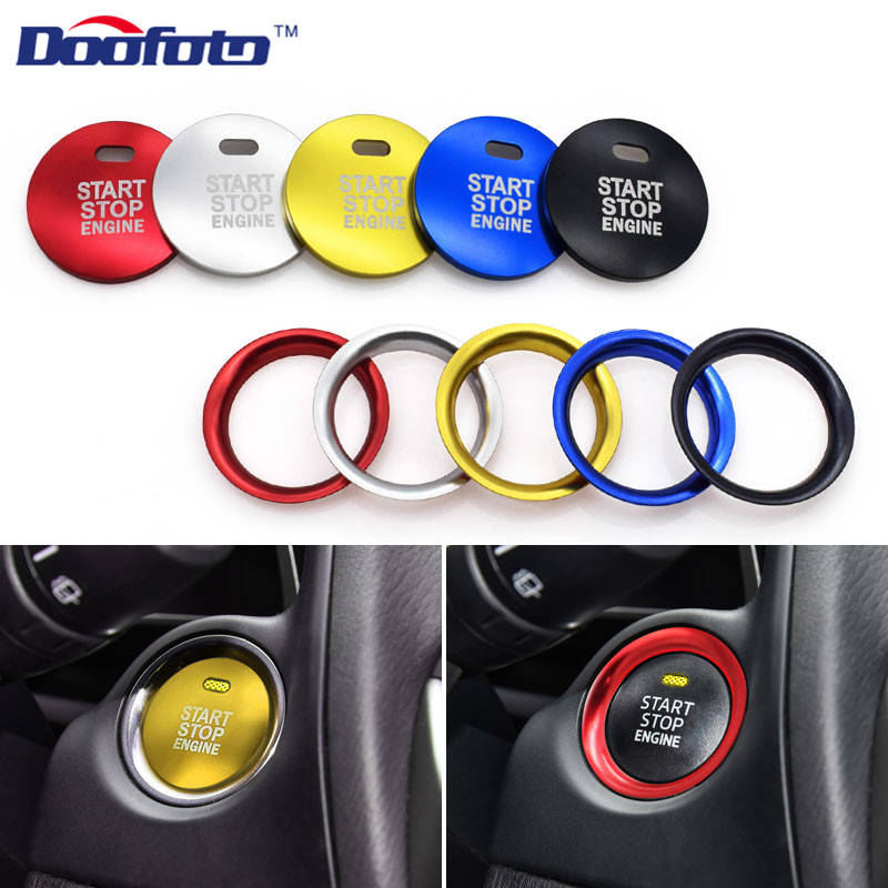 Doofoto Car Engine Start Button Covers For Mazda 3 BM 6 GJ1 GL Axela CX-4 CX4 CX-5 CX5 Car Styling 2019 New Interior Accessories