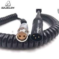 ARRI Alexa camera xt power cable, XLR 3 PIN plug to 2 pin connector plug For ARRI Alexa camera XT/SXT/XT PLUS power cable