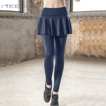 254d3bae91096b High waist Women Running Skirted Leggings Yoga Pants Skinny trousers  leggings sport fitness for ropa deportiva