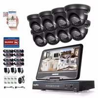 SANNCE 8CH 1080N HDMI DVR 8pcs 720P 1 0 MP IR Outdoor Weatherproof CCTV Camera Home