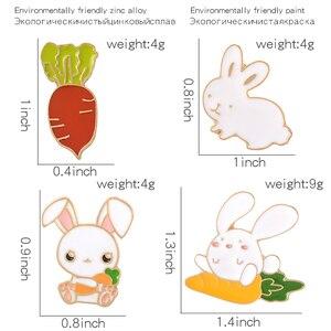 Эмалированный мешочек для брошек с кроликом и морковкой, на заказ