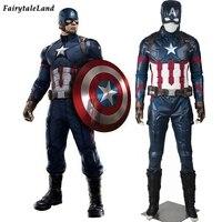 Капитан Америка костюмы для взрослых Хэллоуин костюм супергероя Капитан Америка гражданская война Костюмы для косплея Стивен Роджерс Косп