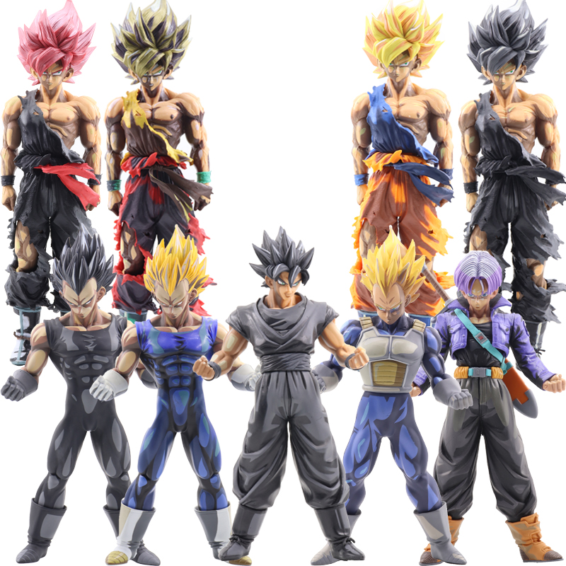 Unid 1 unidad Dragon Ball Z figuras de acción Super Saiyan Son Goku Vegeta 22-35 cm Anime maestro estatuilla colección de juguetes para niños # E