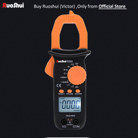 606A Victor RuoShui Digital Clamp Meter AC Clamp Current Multimeter 2000 Counts True RMS Resistance Capacitance Handy Amperemet