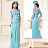 Taline long pool lace appliques mother of the bride dresses Floor Length evening dress for mother bride MBD200
