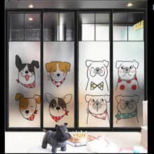 Window Glass stickers Cartoon glass frosted translucent opaque Toilet bathroom window sticker