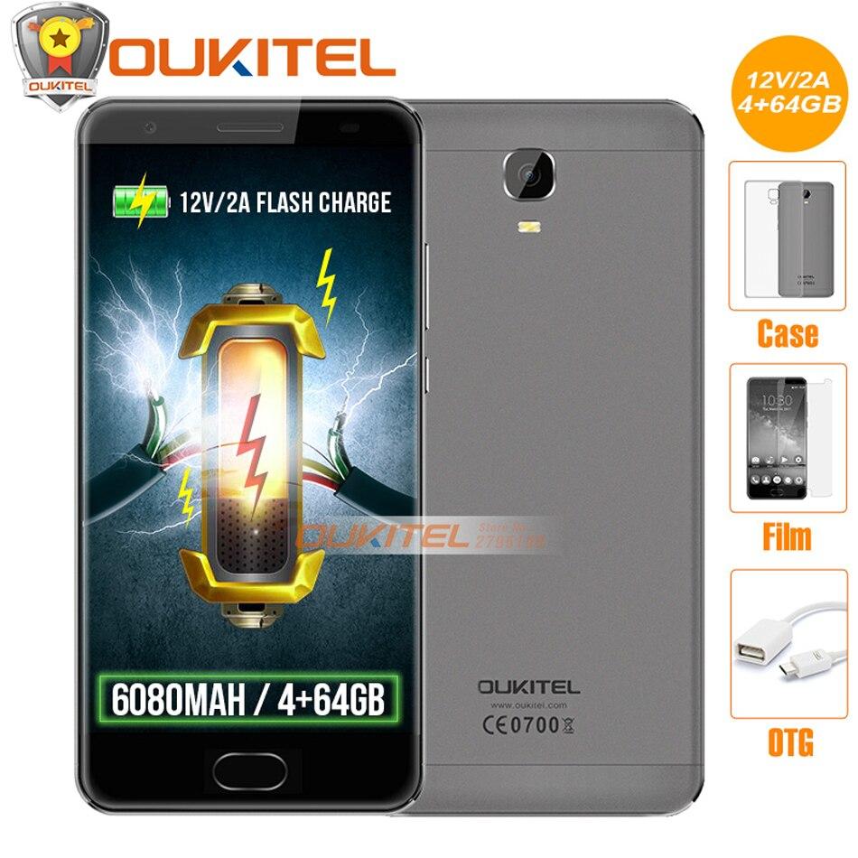 Free gift Original OUKITEL K6000 Plus 4G Mobile phone 5 5 FHD MT6750T Octa Core 4GB