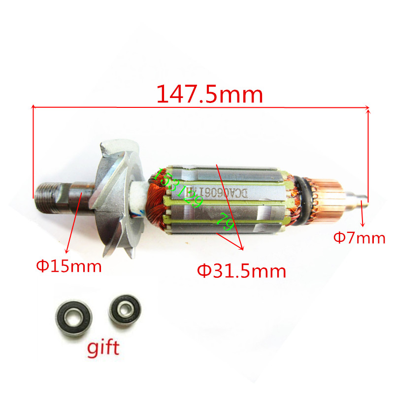 AC 220-240V Armature Motor Rotor Replacement for MAKITA 3701 N3701 rotor Electric Trimmer ac 220 240v armature motor rotor replacement for bosch gbm500re gsb450re psb400re gsb13re gbm400re armature parts engine