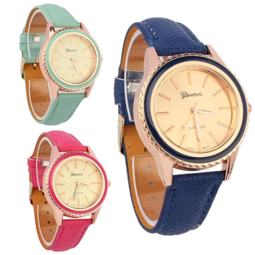 Durable 2016 Fashion font b watch b font women Vogue Women s Men s Unisex Faux