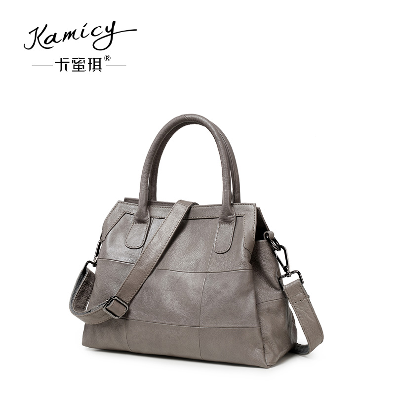 Kamicy New style of leather handbag 2018 personality fashion summer  inclined span small bag fashionable genuine leather handbag 56497347011d1
