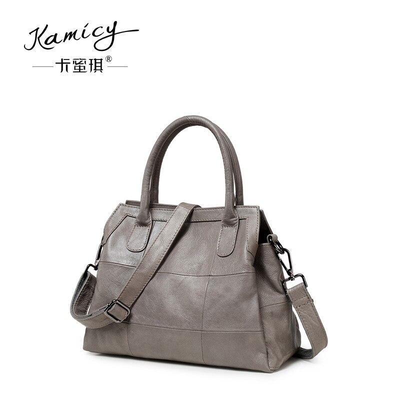 96432daf09b1 Kamicy New style of leather handbag 2018 personality fashion summer  inclined span small bag fashionable genuine leather handbag