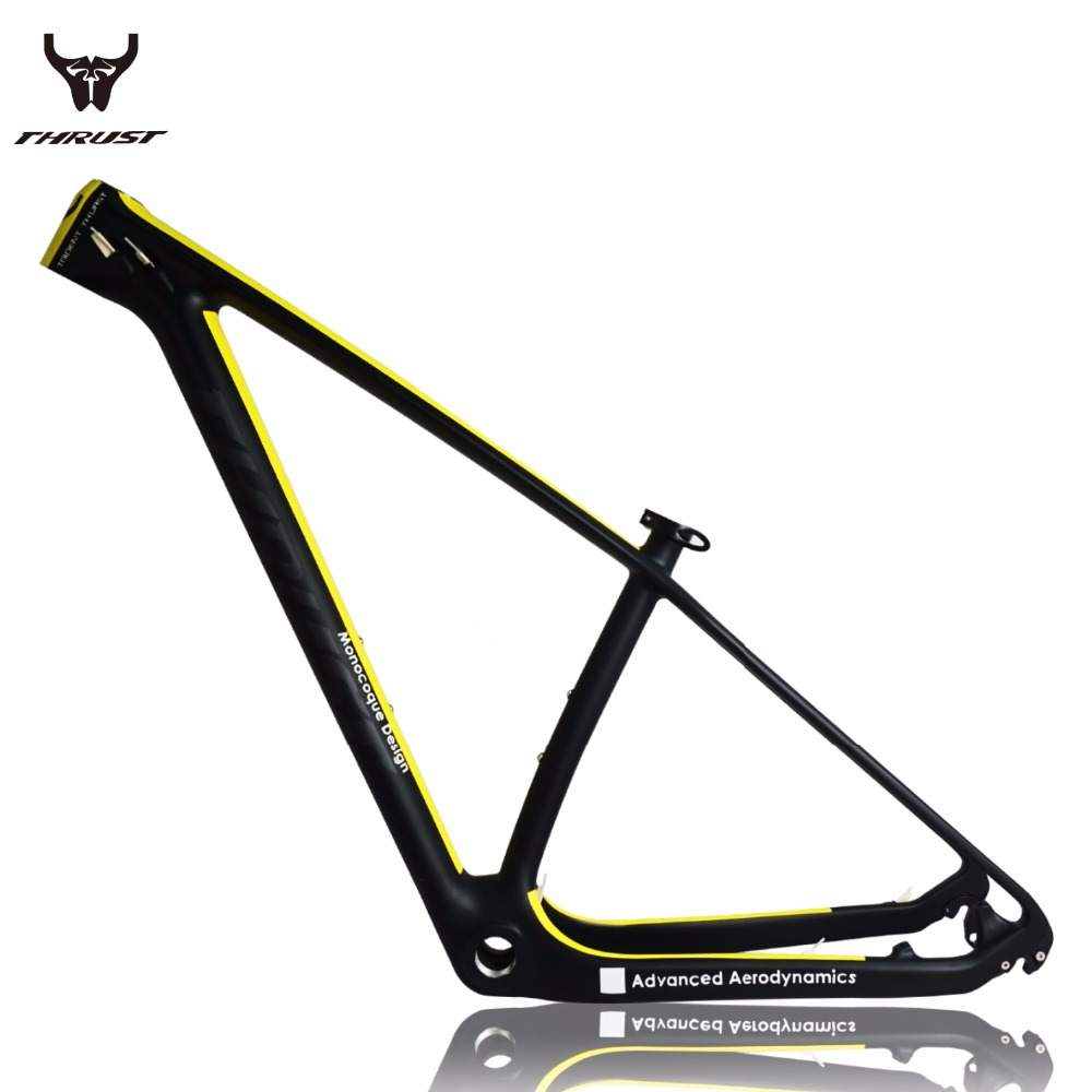 Carbon frame 29er Thru Axle THRUST Chinese Full Carbon mtb Bicycle Frame T1000 Material Carbon Mountain Bike Frame 29er BSA BB30 smileteam new 27 5er 650b full carbon suspension frame 27 5er carbon frame 650b mtb frame ud carbon bicycle frame