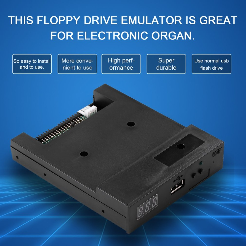 SFR1M44-U100K 5V 3.5 1.44MB Floppy Disk Drive to USB emulator Simulation Simple plug For Musical Keyboad 2pcs sfr1m44 u100k usb floppy drive emulator for electronic organ