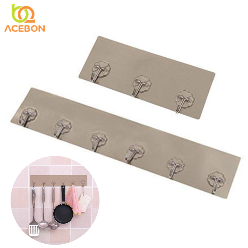 3 6 nails hanging hook strong adhesive hook seamless kitchen wall sticky hook bathroom clothes hooks hanger key holders