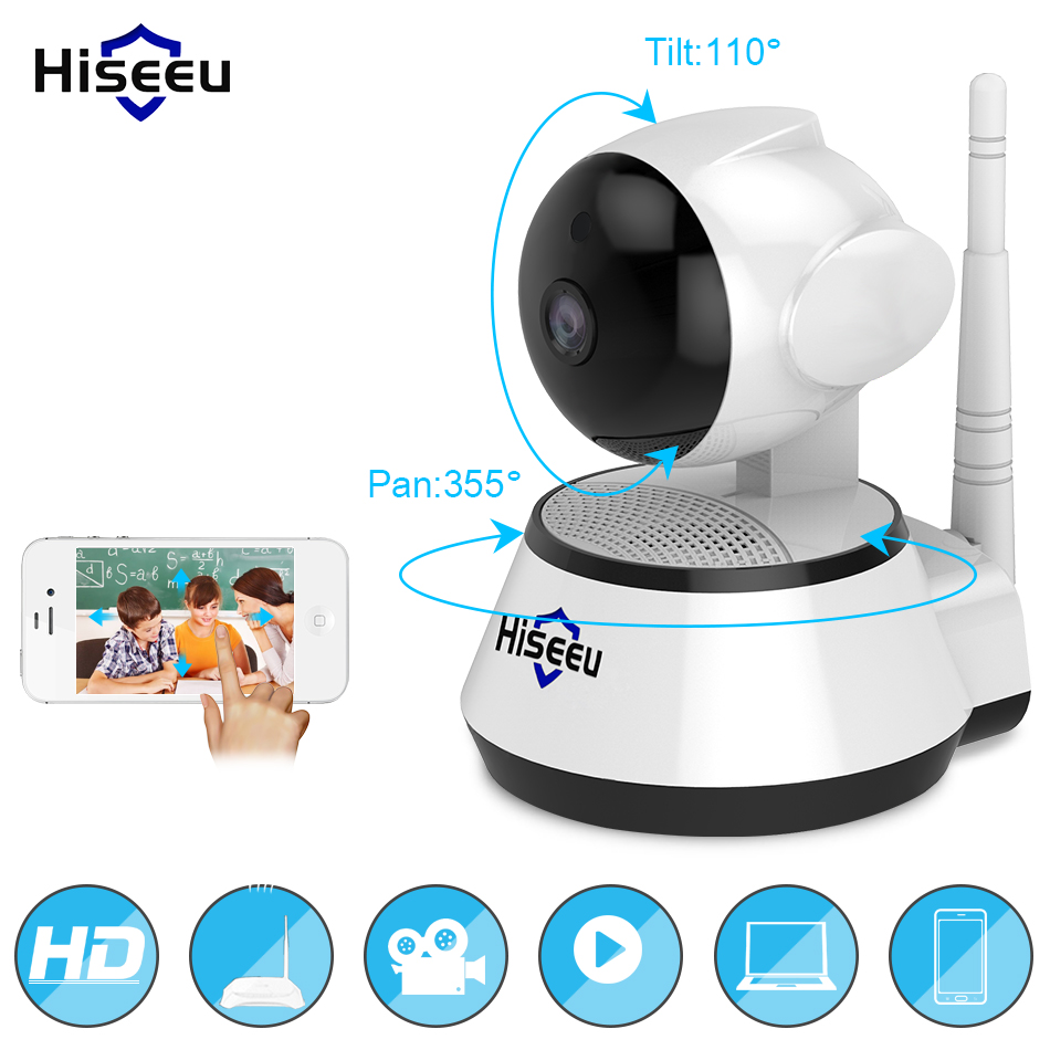 Home Security IP Camera Draadloze Smart WiFi Camera WIFI Audio Record Surveillance Babyfoon HD Mini CCTV Camera Hiseeu 1080 p