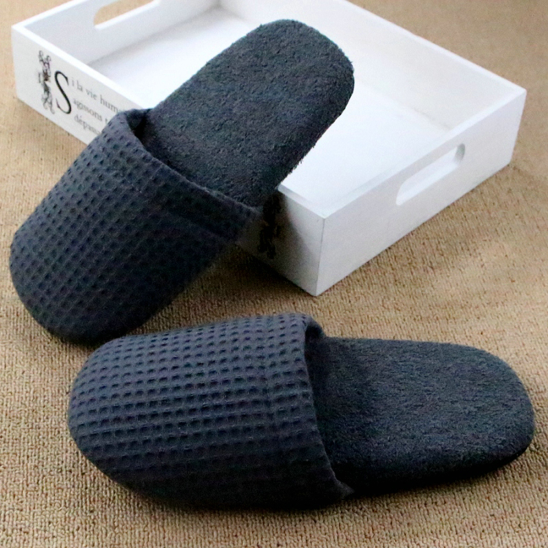 db6f14a87d8 Chinelos Homem Pantufa Hotel Bedroom Winter Women Indoor Slippers For Men  Travel Floor Plush Lattice Home Shoe Pantoufle Femme-in Slippers from Shoes  on ...
