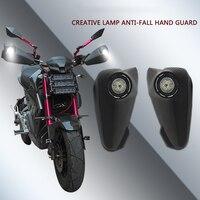 Acessórios da motocicleta com luz mão guarda arco pára-brisa proteção mão fora de estrada veículo bicicleta modificado led com luz