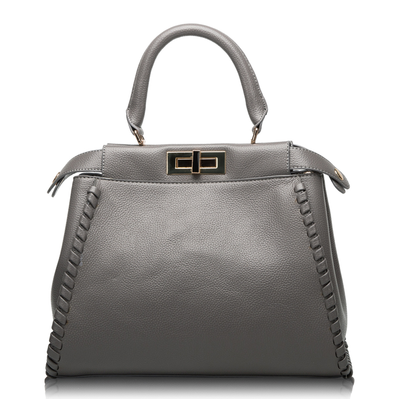 2018 Luxury Designer Women Genuine Leather Handbag Soft High Quality Fashion Shoulder Bag Messenger Bag Knitting Shoulder Straps