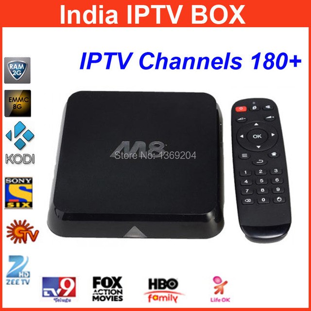 US $169 56 |M8 android tv box India iptv ,indian iptv box,support live  india channels,180+ channels include Hindi,English ,Tamil, channels-in  Set-top