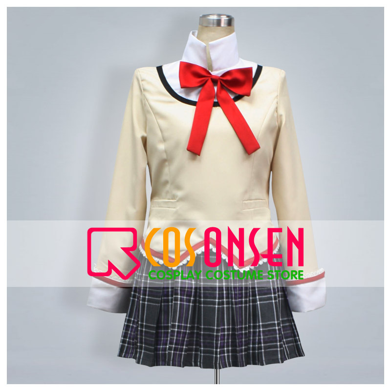 COSPLAYONSEN Puella Magi Madoka Magica Girl School Uniform Cosplay Costume Full Set Custom Made