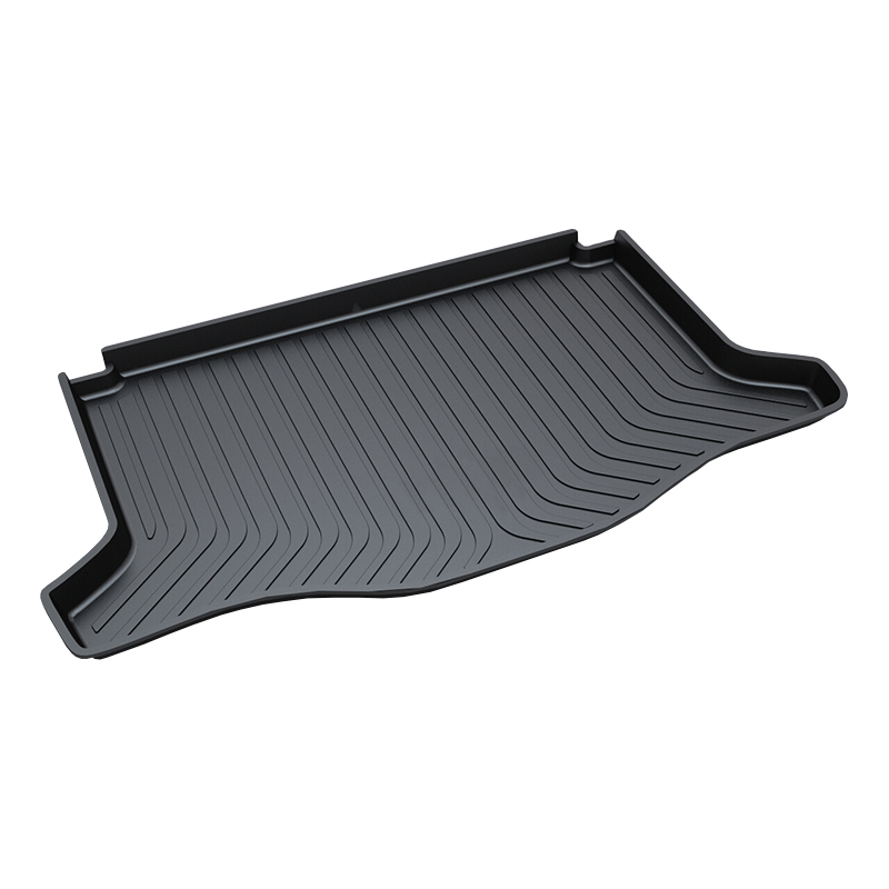 for Honda JAZZ Trunk Tray Mat Premium Waterproof Anti-Slip Car Trunk Carpet in Heavy Duty Black rear trunk liner cargo floor tray for toyota ysx213 toyota runner premium waterproof anti slip car trunk mat in heavy duty black