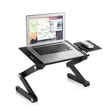 Tragbare Faltbare Laptop Schreibtisch Stehen Verstellbare Stehpult Für Ultrabook, Netbook Oder Tablet Mit USB Lüfter Maus Pad