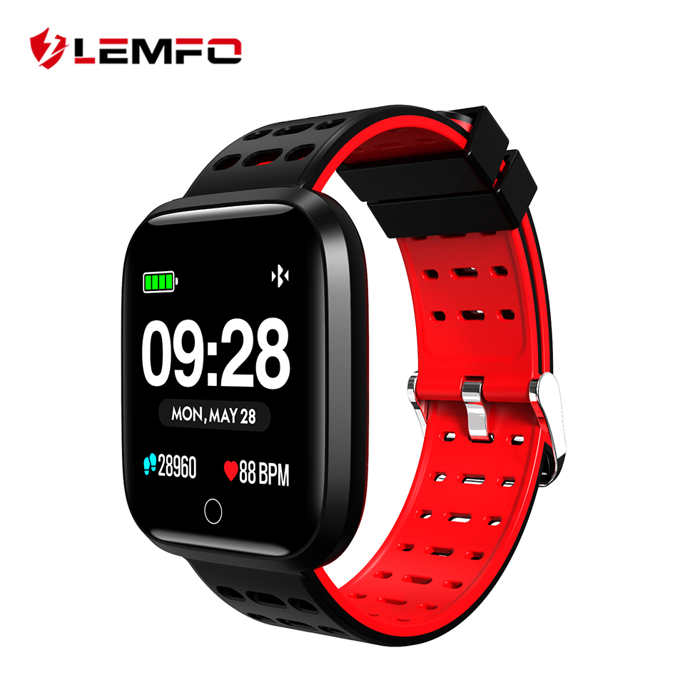 LEMFO Fitness Bracelet Fitness Tracker Pedometer Heart Rate Monitoring Blood Pressure Monitoring Waterproof IP67 Smart Bracelet микроволновая печь hotpoint ariston mwha 2422 ms mwha 2422 ms