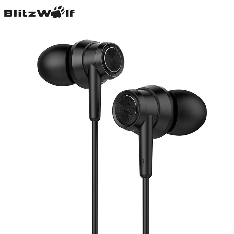 BlitzWolf BW-ES1 Graphene Earphone 3.5mm In-ear Wired Control Stereo Earbuds With Microphone For Samsung For iPhone Smart Phones original xiaomi mi hybrid earphone in ear 3 5mm earbuds piston pro with microphone wired control for samsung huawei p10 s8