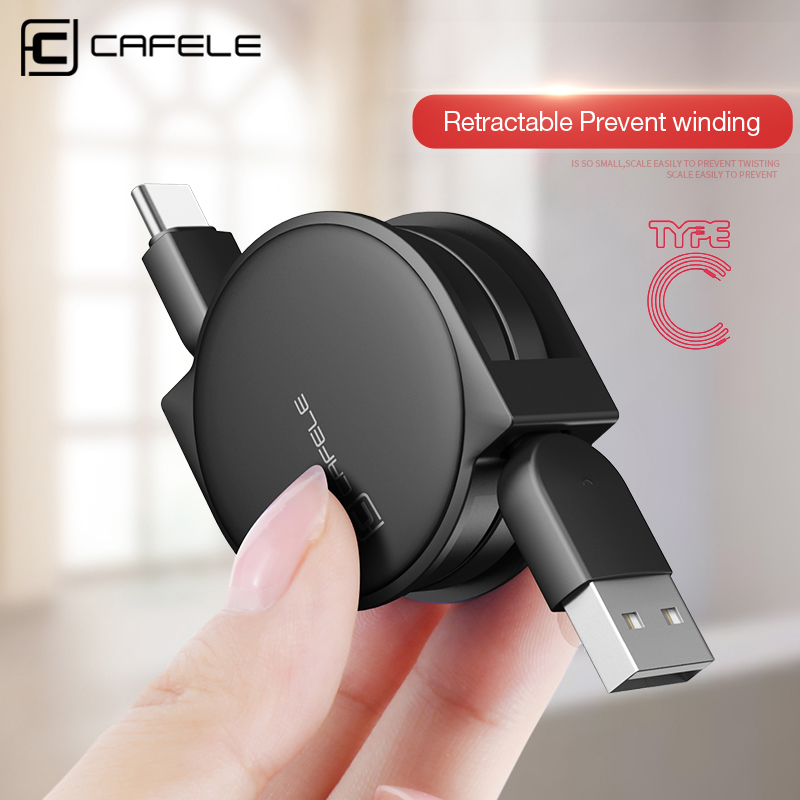 CAFELE Original USB Retractable Type c Cable USB Data Sync Charge Cable for samsung S8 huawei p9 p10 for Xiaomi 5X A1 ZUK Z1 Z2|cable type c|cable ccable c type - AliExpress