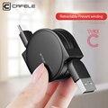 Caja protectora CAFELE Original retráctil USB tipo c Cable USB de sincronización de datos Cable de carga para samsung S8 huawei p9 p10 para Xiaomi 5X a1 ZUK Z1 Z2