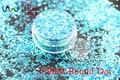 TCR11 Americano Fantasía Azul Iridiscente color glitter polvo Punto Redondo Forma para uñas de Arte u otros DIY decoración