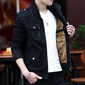 Image 5 - ผ้าขนสัตว์2020แจ็คเก็ตผู้ชายล้างCasual Slim Coatฤดูใบไม้ผลิฤดูใบไม้ร่วงฤดูหนาวหนาบางแฟชั่นสีเขียวParka Owterwear
