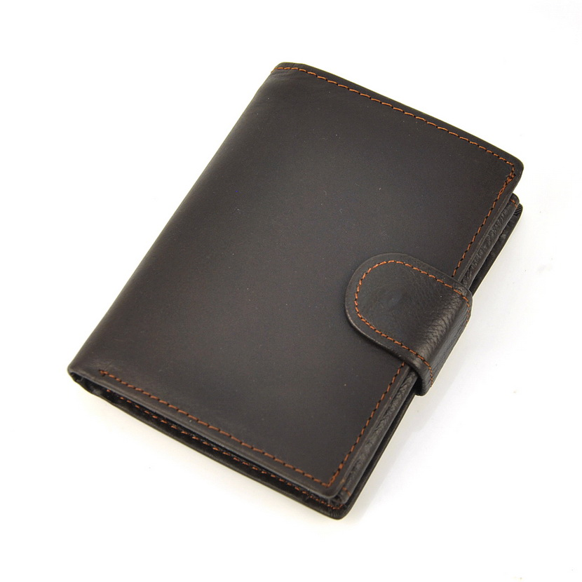 Men Vintage Genuine Cow Leather Wallet Trifold Retro Zip Coin Bag Bill Money Credit Card Holder ID Photo Window Snap Short Purse joyir vintage men genuine leather wallet short small wallet male slim purse mini wallet coin purse money credit card holder 523