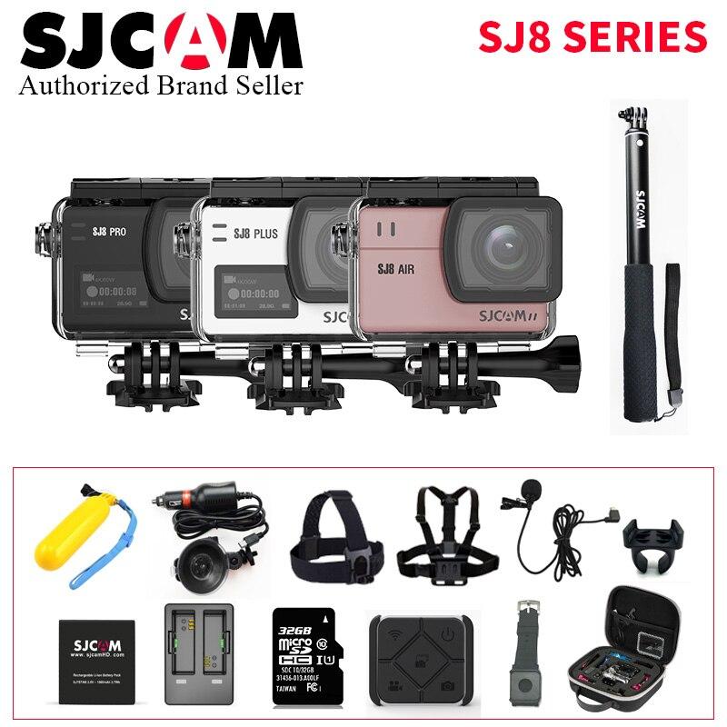 Ensemble complet SJCAM SJ8 Série SJ8 Air & SJ8 Plus & SJ8 Pro 8X Numérique Zoom 1290 p 4 k action Caméra WIFI Télécommande Étanche DV