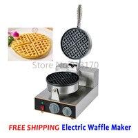 Бесплатная доставка коммерческий Электрический вафельница одной головы Кухня прибор вафельница Нержавеющаясталь плита