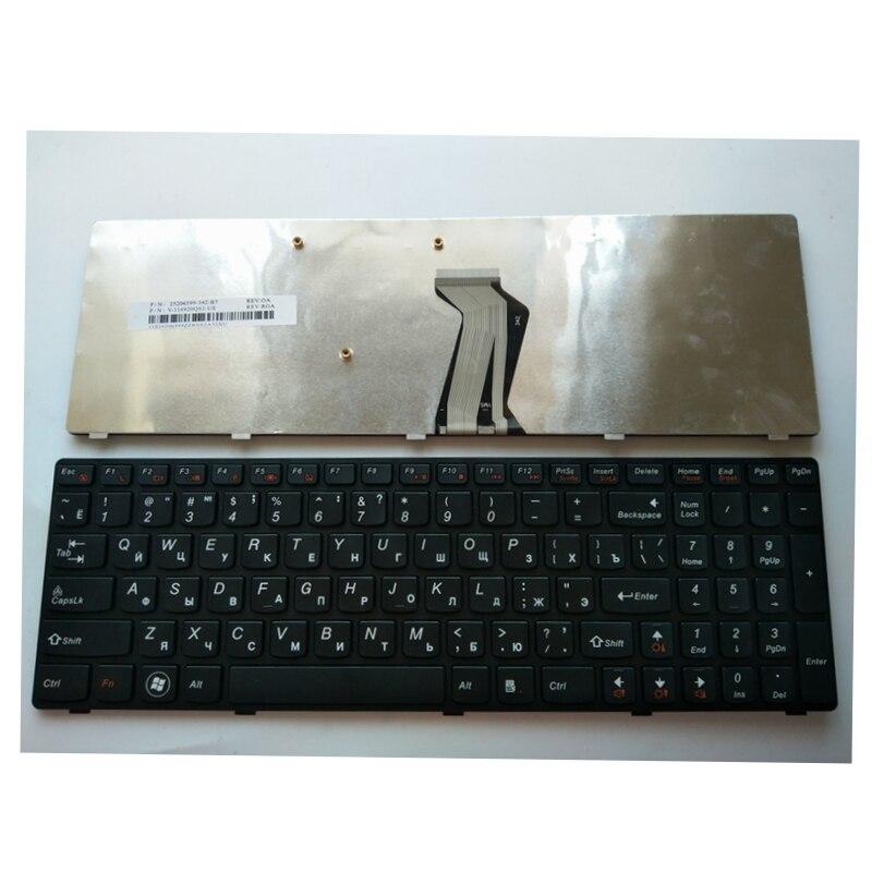 Russia RU New Keyboard FOR Lenovo Y500 Y500N Y510P Y500NT BLACK laptop keyboard no Backlight new turkey laptop keyboard for lenovo y590 y500 y510p tr laptop keyboard with frame blacklight