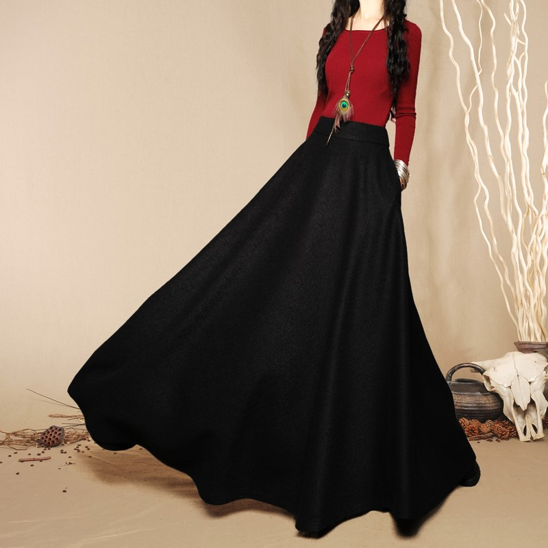 Popular Autumn Winter Long Skirt-Buy Cheap Autumn Winter Long ...