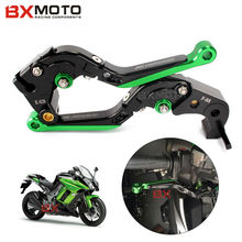 Motorcycle Accessories Motorbike Cnc Aluminum Green Brake Clutch Lever Set For Kawasaki Z1000 2007-2016