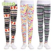 Разноцветные штаны для девочек, детские штаны с цветочным принтом, весенне-осенние детские леггинсы, обтягивающие леггинсы для девочек, одежда для детей