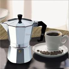 купить 100/200/300/600ML Italian Moka Coffee Maker Mocha Espresso Latte Stovetop Tool Filter Coffee Pot Percolator Cafetiere по цене 865.59 рублей
