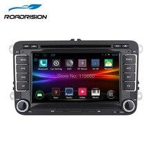 RoadRision Android 6,0 Автомобильный DVD gps Навигатор Радио для Volkswagen VW golf 5 6 Touran Passat Jetta Polo Tiguan встроенный Canbus