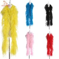CHENGBRIGHT 6 Layers Fluffy Ostrich Feather Boa Skirt Costumes/Trim For Party/Costume/Shawl/Craft Ostrich Feather In Wedding DIY