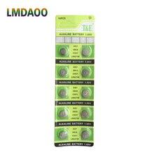 10 шт. AG7 LR927 LR57 SR927W 399 GR927 395A 1,55 V кнопочные батарейки для часов, игрушки пульты, аккумулятор бренда xinlu