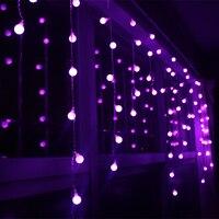 Christmas led string lights flashing lights curtain lights waterproof ball outdoor holiday light 3.5M 96leds