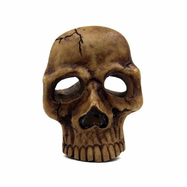 Halloween Skulls Phone Back Shell Sticker Funny Resin Decals Skull Sticker Label Head Styling Emblem Badge