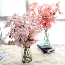98.5cm 4Colours Sakura Cherry Wedding Decoration Artificial Vine Flowers Bride Room Hanging Garland