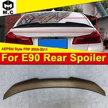 E90 3 Series Sedan&M3 FRP Unpainted Trunk Spoiler Wing PSM Style For BMW E90 320i 325d 328i Duckbill Rear wings Spoiler 2005-11 цена