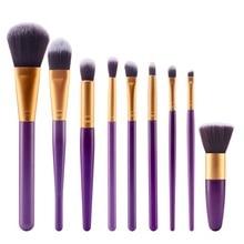 MAANGE 9pcs/set Makeup Brush Sets Blush Foundation Powder Brush Cosmetic Beauty Tool 9 colors цена